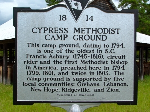 Camp Ground Marker