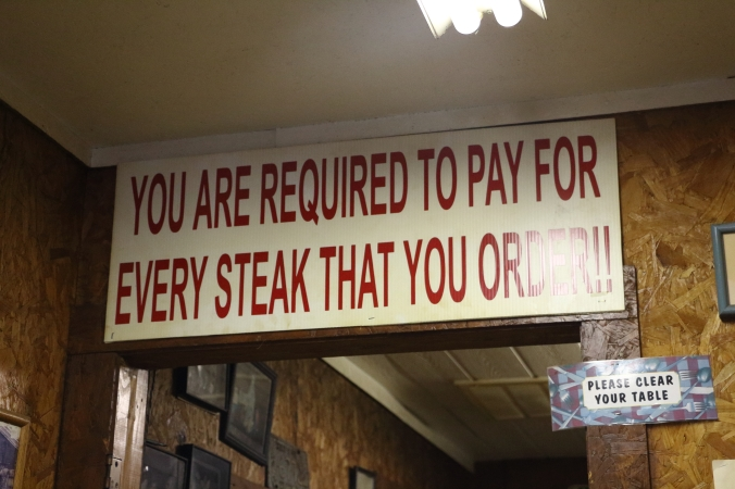Pay For Your Steak