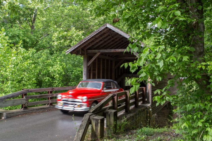covered bridge in tennessee copy